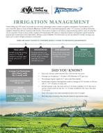 Irrigation Management Flyer