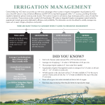 Irrigation Management Flyer