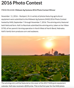 2016 Midwest Ag Photo Contest Award Winner